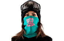 Mons Royale Neck Warmer green reflect